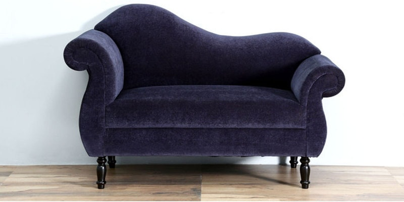 Bayley Two Seater Sofa in Navy Blue Colour by Amberville