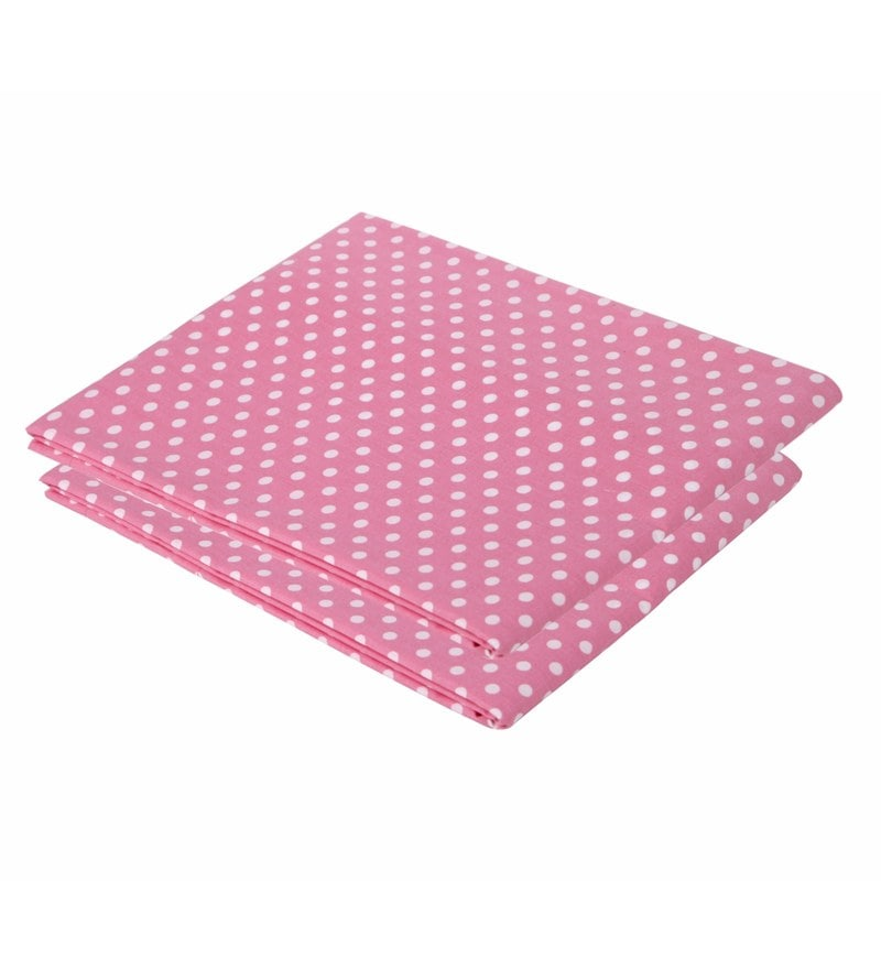 Bacati Multicolour Cotton 52 x 28 Inch Pink Pin Dots Crib Fitted Baby Bedding Set