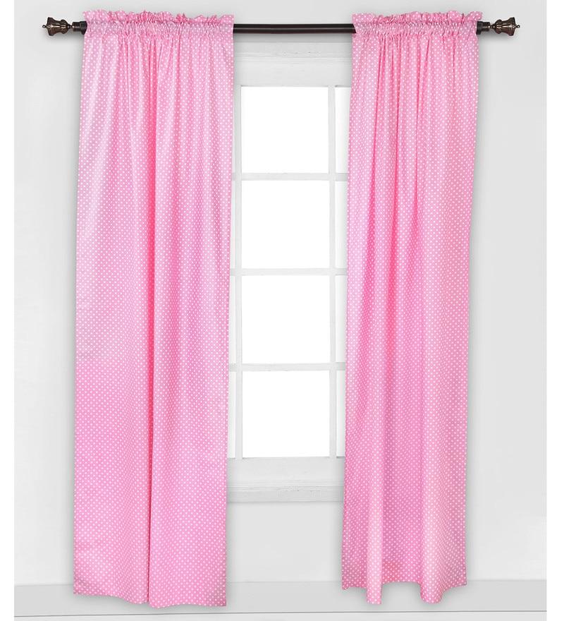 Pink Pin Dots Curtain Panel Door Set of 2 pcs by Bacati