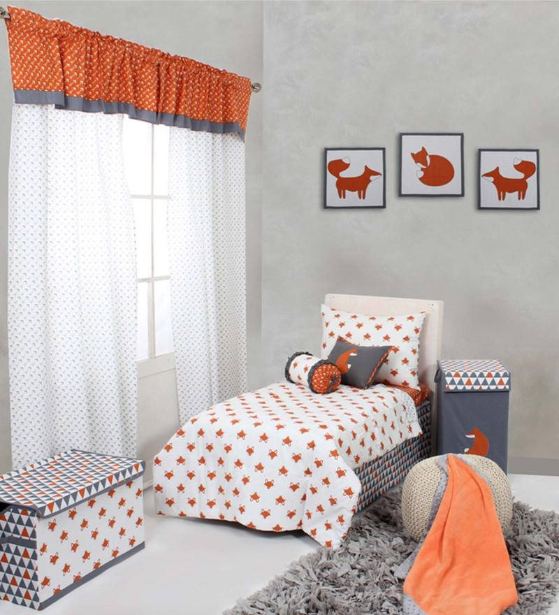 Playful Fox 4Piece Toddler Bedding Set by Bacati