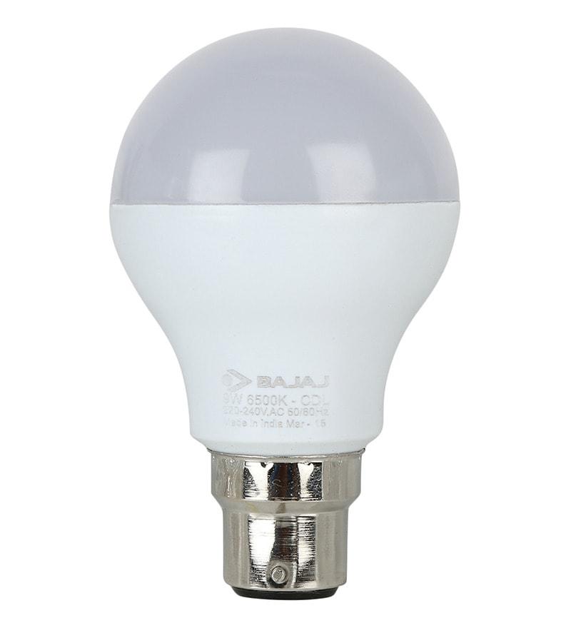 Buy Bajaj White 9w Led Bulb Set Of 2 Online Led Bulbs Led Amp Lights Hardware Amp Electricals