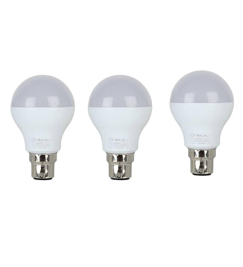 Bajaj White 15 W LED Bulb - Set of 3