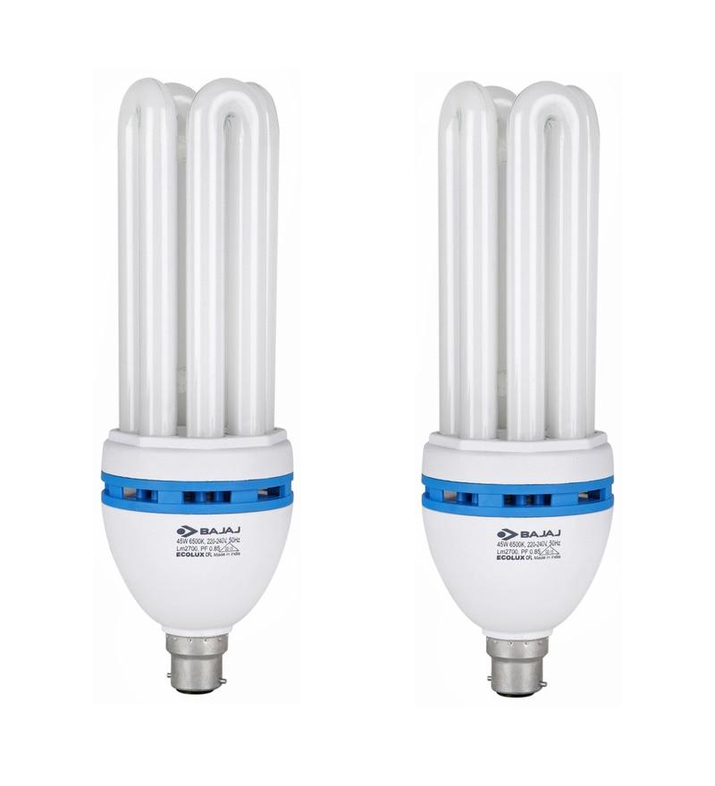 Bajaj White 45 W CFL Light - Set of 2