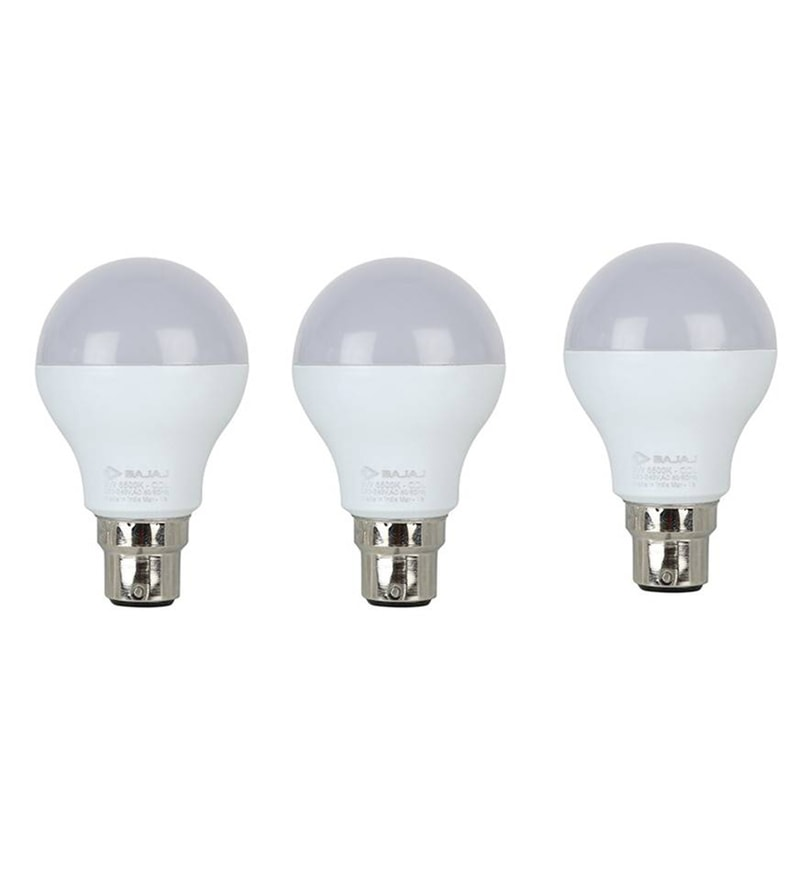 Bajaj White 9 W LED Bulb - Set of 3