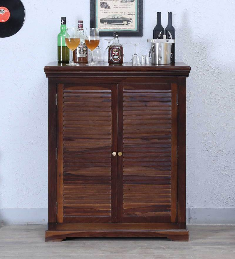Carleson Bar Cabinet in Provincial Teak Finish by Amberville