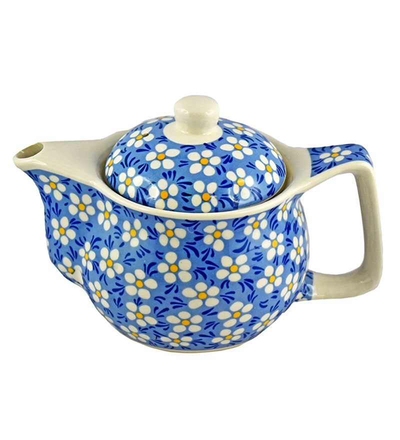 Bar World Blue & White Porcelain 350 ML Teapot - Set of 3