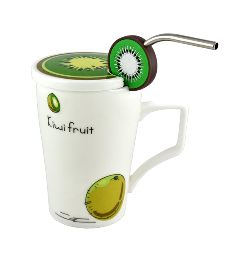 Bar World Fruitilicious Ceramic 300 ML Mug - Set of 3