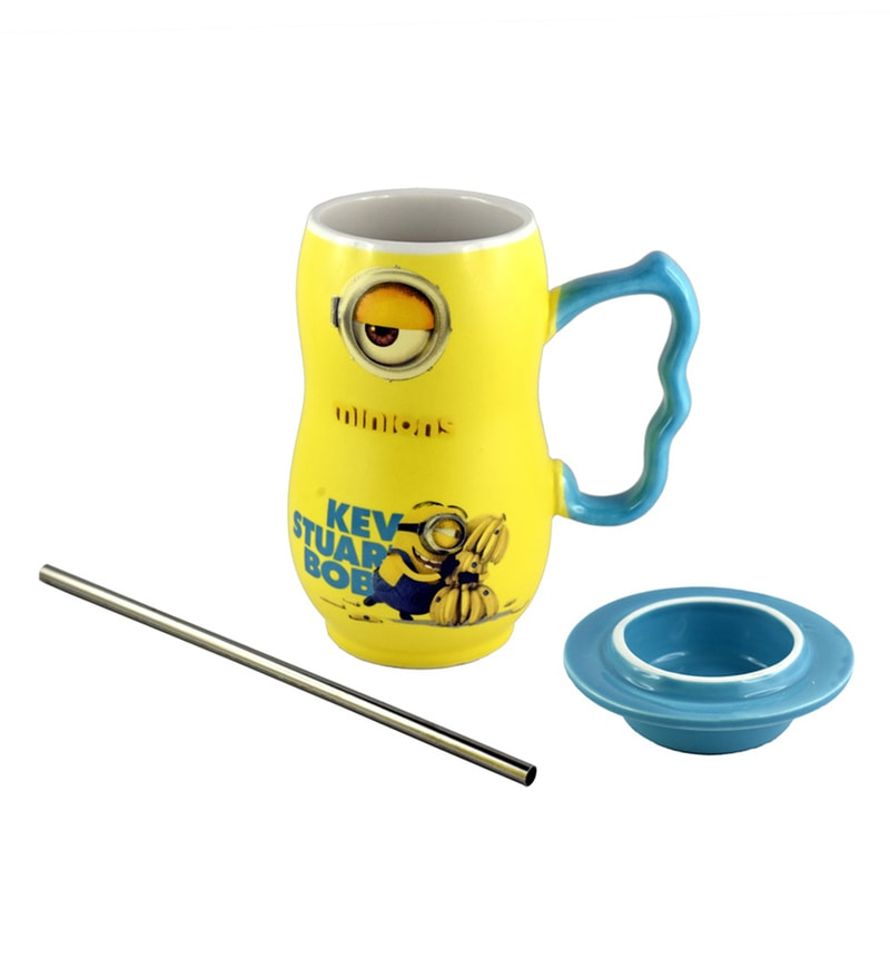 Bar World Minion Yellow & Blue Ceramic 450 ML Mug