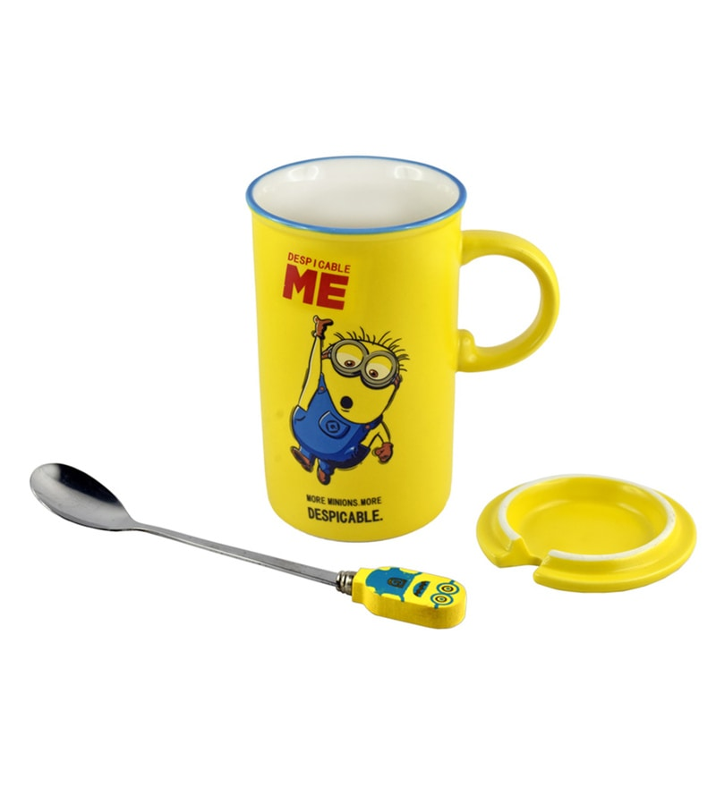 Bar World Minion Yellow Ceramic 300 ML Mug