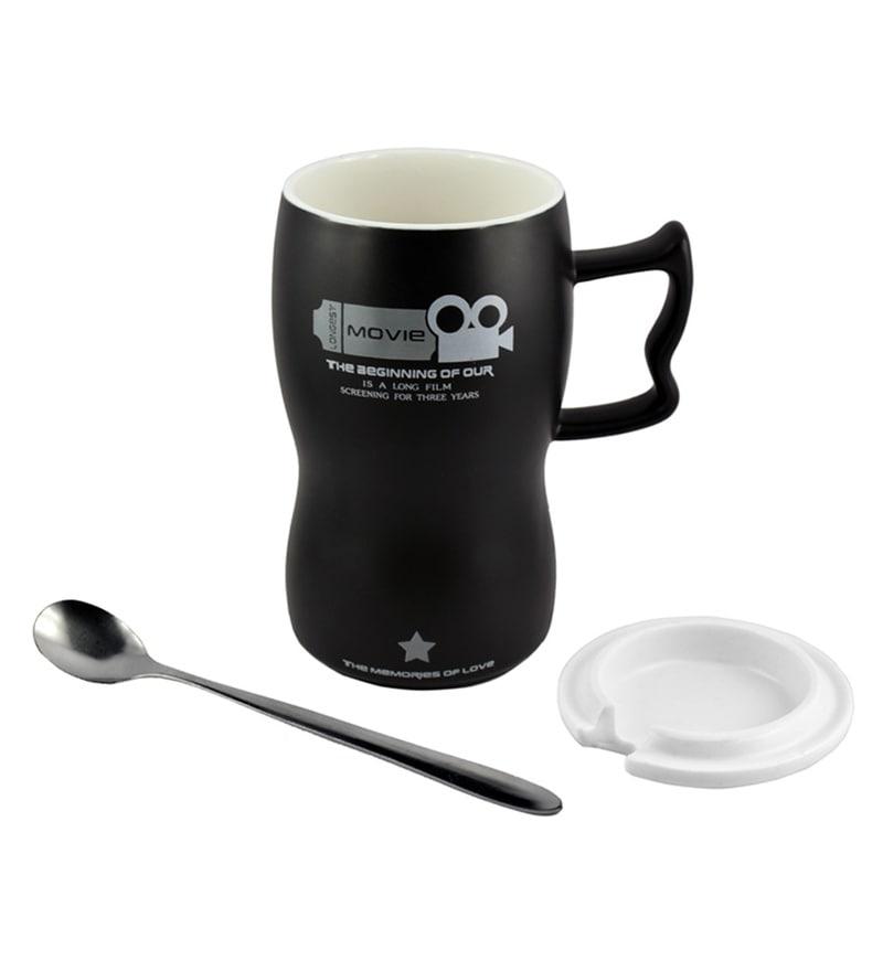 Bar World Moviecam Ceramic 450 ML Mug - Set of 3