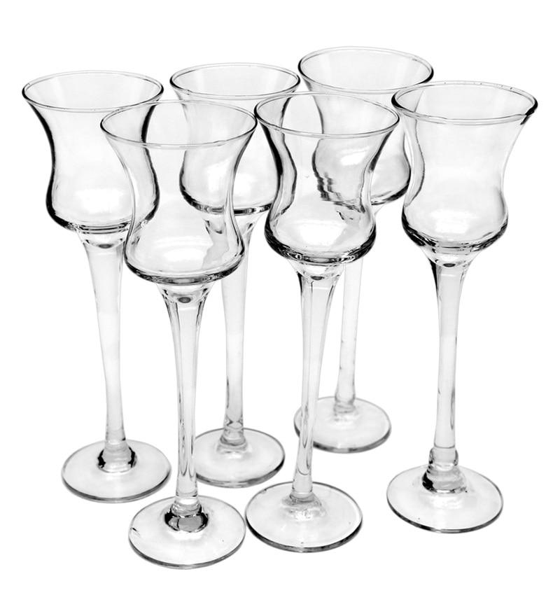 Bar World Transparent Glass 180 ML Glasses - Set of 6