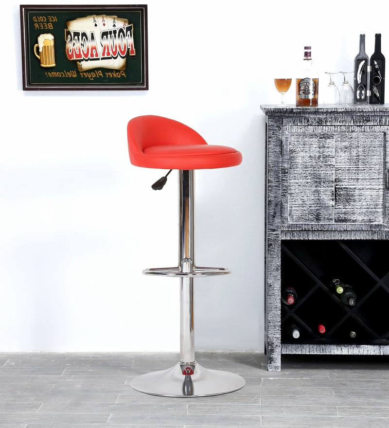 Barstool with Leatherette Seat by FullStock
