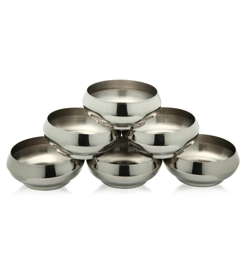 Bartan Shopee Stainless Steel Bowls - Set of 6