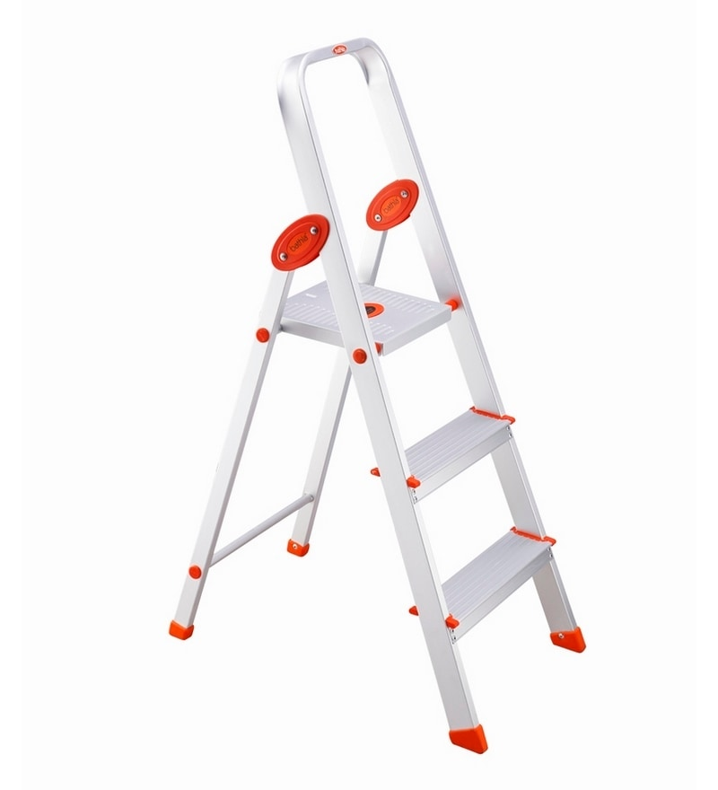 Bathla Aluminium 2 Steps 1.8 FT Ladder with Platform