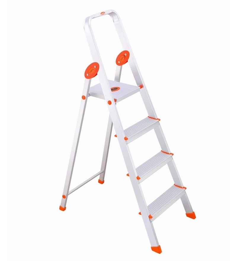Bathla Aluminium 3 Steps 2.8 FT Ladder