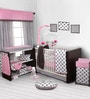 Bacati Grey Dots Pink Grey Nursing Pillow
