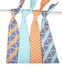 Bacati Liam Aztec Triangles Muslin Swaddling Blankets in Aqua Orange & Navy (Set of 4)