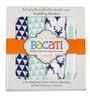 Bacati Noah Tribal Buck Feathers & Triangles Swaddling Blankets in Mint & Navy (Set of 4)