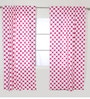 Pink Large Dots Curtain Panel Door Set of 2 pcs by Bacati