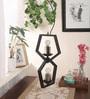 Black Steel Interlock Pendant by Bandra Flea Market