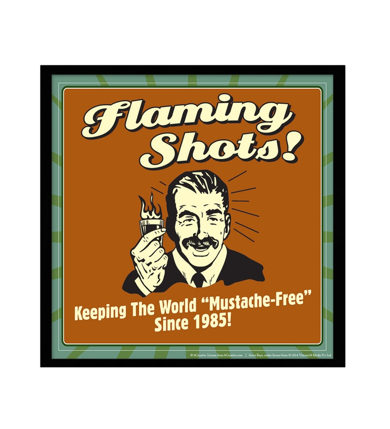 Paper & Fibre 13 x 1 x 13 Inch Flaming Shots! Keeping The World