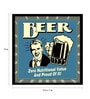 Paper & Fibre 13 x 1 x 13 Inch Beer Zero Nutritional Value & Proud Of It! Officially Licensed Framed Poster by bCreative