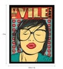 Paper & Fibre 13 x 1 x 17 Inch Vile Girl Officially Licensed Framed Poster by bCreative