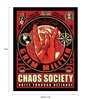 Paper & Fibre 13 x 1 x 19 Inch Chaos Society Unity Through Defiance Officially Licensed Framed Poster by bCreative