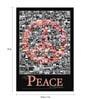 bCreative Paper & Fibre 13 x 1 x 19 Inch Give Peace A Chance Officially Licensed Framed Poster