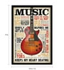 bCreative Paper & Fibre 13 x 1 x 19 Inch Music Inspires Me Officially Licensed Framed Poster