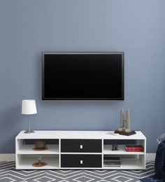 Beacon Entertainment Unit In White & Black Finish