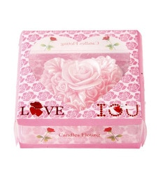 Market Finds Fantastic Pink Heart Flower Floating Candle