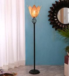 Beige Bamboo Floor Lamp