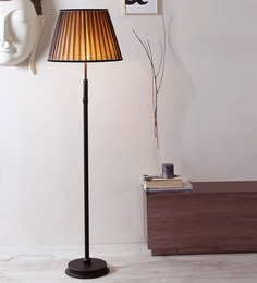 Beige Fabric Floor Lamp