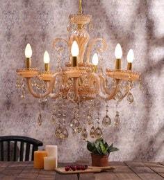 Chandeliers buy jhommer lightscrystal chandeliers online in india beige glass chandelier beige glass chandelier aloadofball Images
