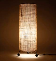 Buy contemporary table lamps online in india best prices pepperfry beige jute table lamp aloadofball Gallery