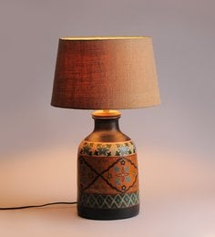 Beige Jute Table Lamp