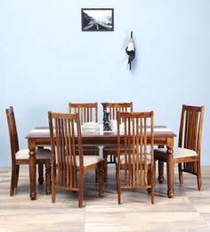 Bergamo Six Seater Dining Set In Provincial Teak Finish By Amberville