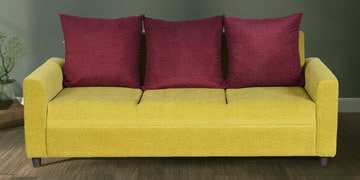 Benito Three Seater Sofa In Khakhi Colour By Cloud 9