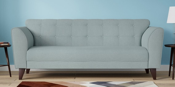 Belem Three Seater Sofa In Ice Blue Color