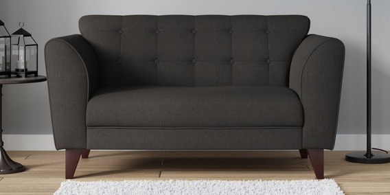 Belem Two Seater Sofa In Charcoal Grey Color