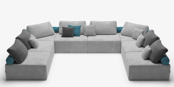 Wondrous Berlin Modular Fabric Bean Bag Sectional Sofa Seats In Grey Colour By Fluco Andrewgaddart Wooden Chair Designs For Living Room Andrewgaddartcom