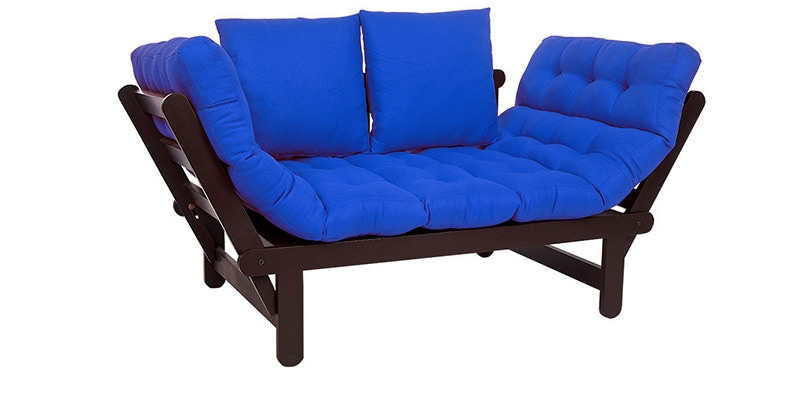 Beat Futon with Blue Mattress by ARRA