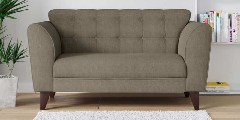 Buy Belem Two Seater Sofa in Charcoal Grey Color by CasaCraft Online ...