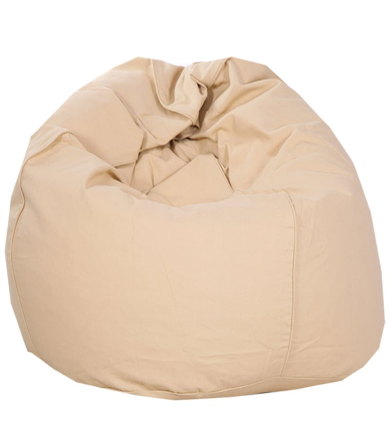 Good ORGANIC COTTON Bean Bag Cover In Beige Colour By Reme Awesome Ideas