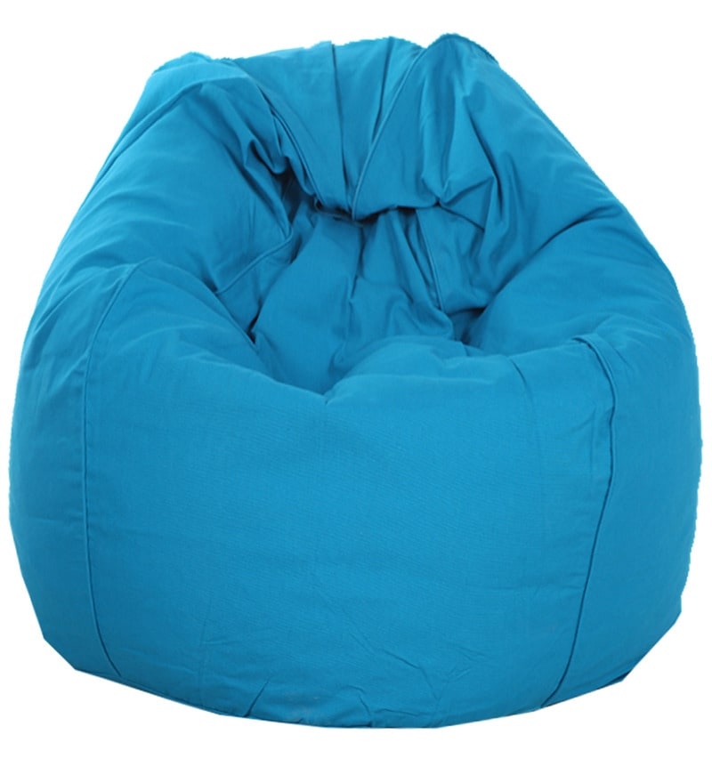 ORGANIC COTTON XXL Bean Bag Cover in Blue Colour by Reme