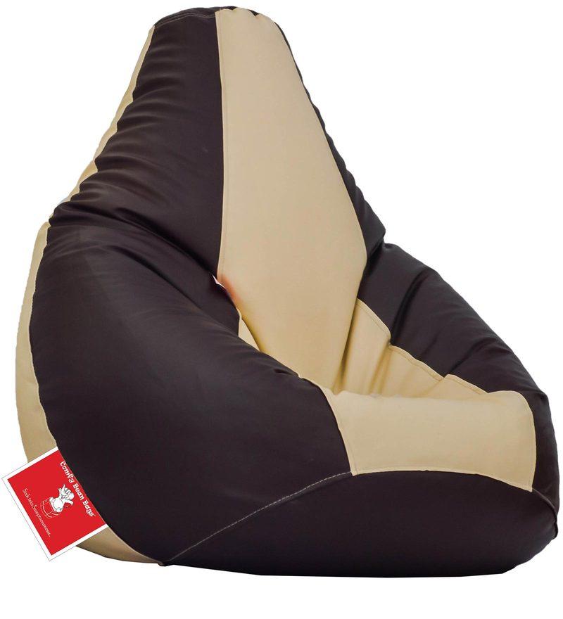 Bean Bag Cover in Brown & Cream Colour by Comfy Bean Bags