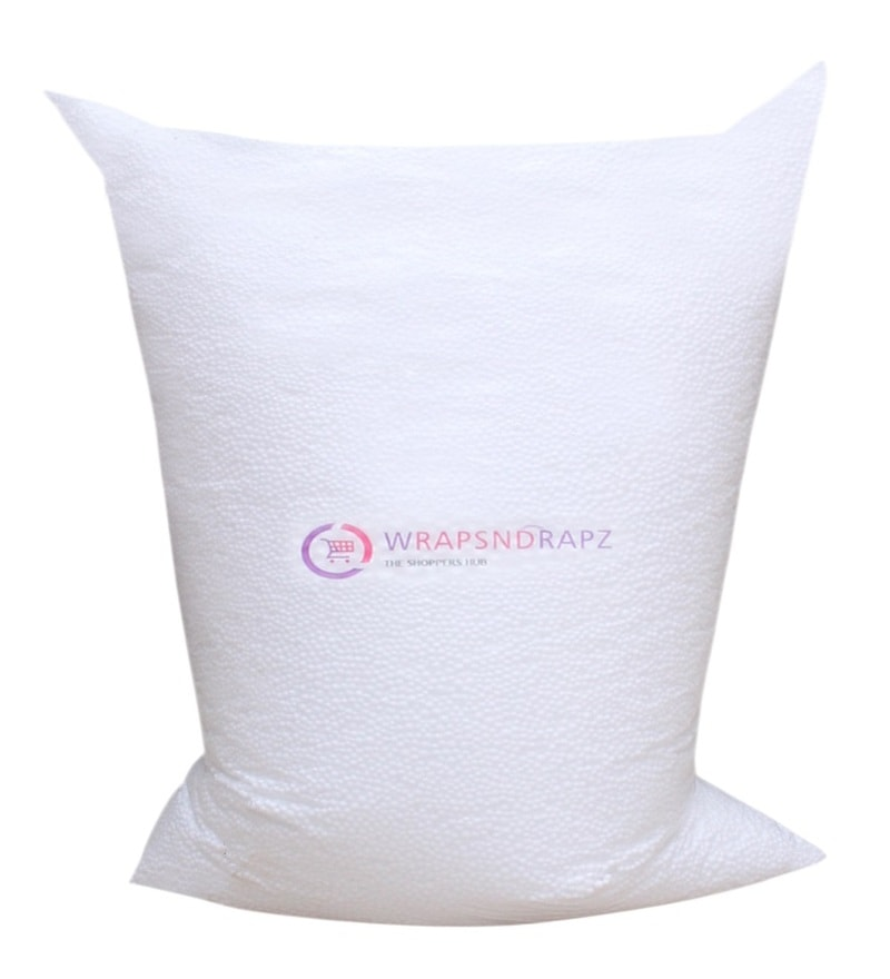 1 Kg Beans Bag Refills in White Colour by Wraps N Drapz