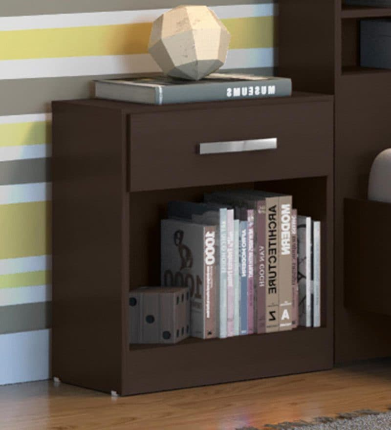Kimura Bedside Table in Tobacco Finish by Mintwud