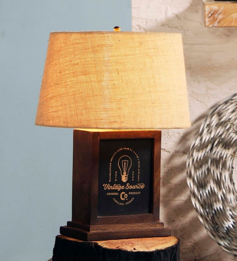 Beige Jute Adair Table Lamp by Fabuliv